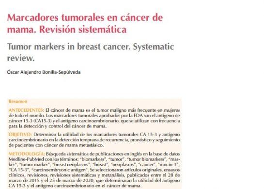 Marcadores tumorales en cáncer de mama. Revisión sistemática