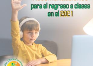 Recomendación para el regreso a clases virtuales