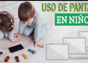 Uso de pantallas en niños